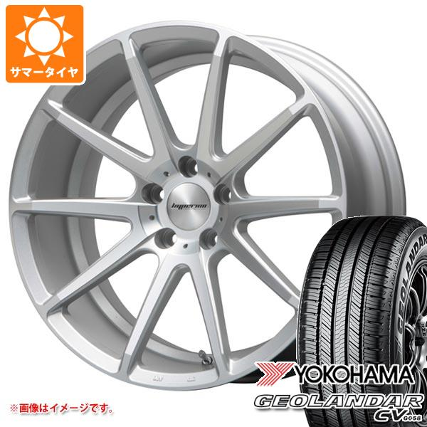 サマータイヤ 235/55R18 100V ヨコハマ ジオランダー CV ハイペリオン CVX 8.0-18 タイヤホイール4本セット