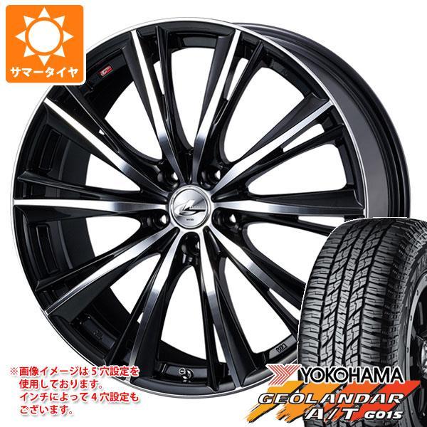 サマータイヤ 235/55R18 104H XL ヨコハマ ジオランダー A/T G015 ブラックレター レオニス WX BKミラーカット 8.0-18 タイヤホイール4本セット