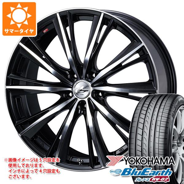 サマータイヤ 185/65R15 88H ヨコハマ ブルーアース RV-02CK レオニス WX 5.5-15 タイヤホイール4本セット