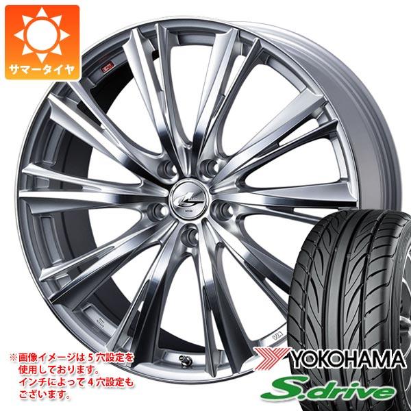 サマータイヤ 165/55R14 72V ヨコハマ DNA S.ドライブ ES03 レオニス WX HSミラーカット 4.5-14 タイヤホイール4本セット
