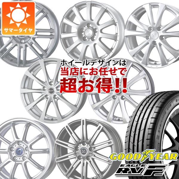 サマータイヤ 215/60R16 95H グッドイヤー イーグル RV-F デザインお任せホイール 6.5-16 タイヤホイール4本セット