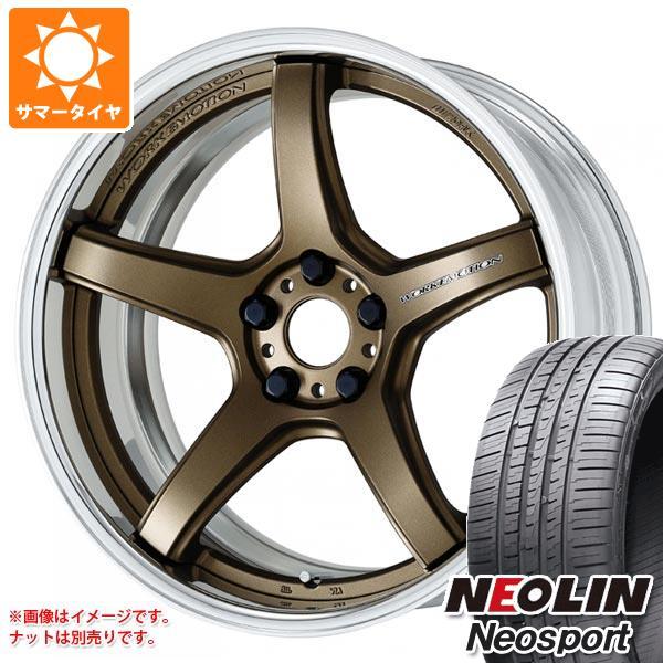 サマータイヤ 215/35R19 85Y XL ネオリン ネオスポーツ ワーク エモーション T5R 2P 8.0-19 タイヤホイール4本セット