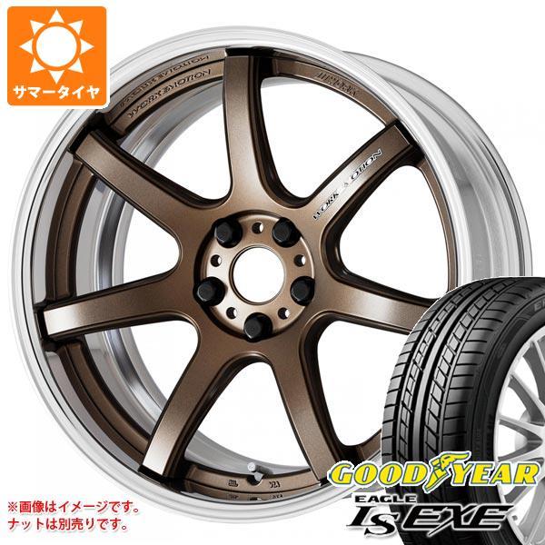 サマータイヤ 245/45R18 100W XL グッドイヤー イーグル LSエグゼ ワーク エモーション T7R 2P 8.5-18 タイヤホイール4本セット