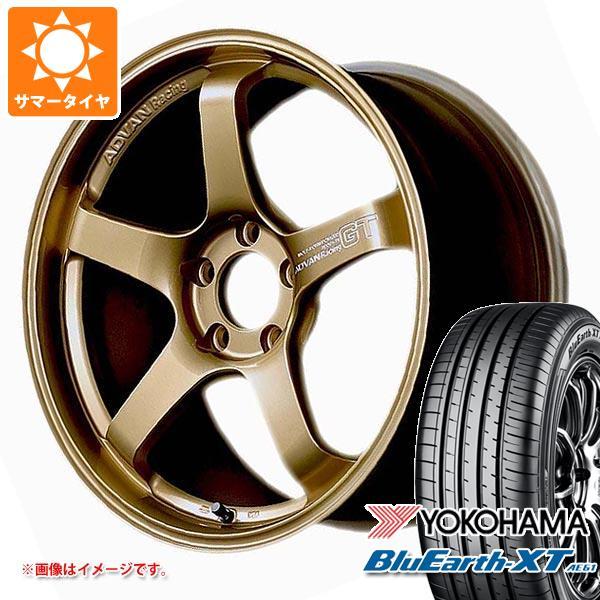 サマータイヤ 225/55R18 98V ヨコハマ ブルーアースXT AE61 アドバンレーシング GT プレミアムバージョン 8.0-18 タイヤホイール4本セット