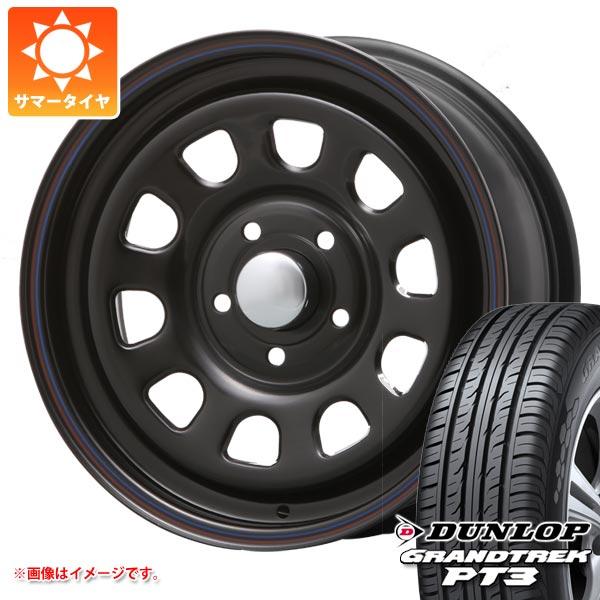 サマータイヤ 215/70R16 100H ダンロップ グラントレック PT3 デイトナ SS ブラック 7.0-16 タイヤホイール4本セット