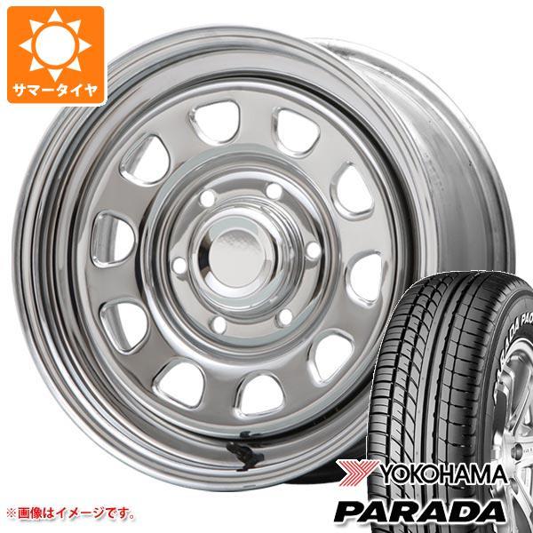 サマータイヤ 215/65R16 109/107S ヨコハマ パラダ PA03 デイトナ SS クローム 7.0-16 タイヤホイール4本セット
