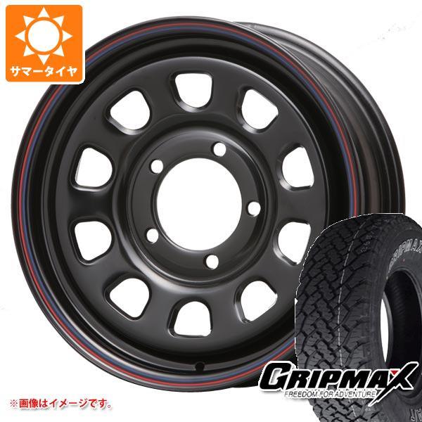ジムニーシエラ専用 サマータイヤ グリップマックス グリップマックス A/T 215/70R16 100T アウトラインホワイトレター デイトナ SS ブラック タイヤホイール4本セット