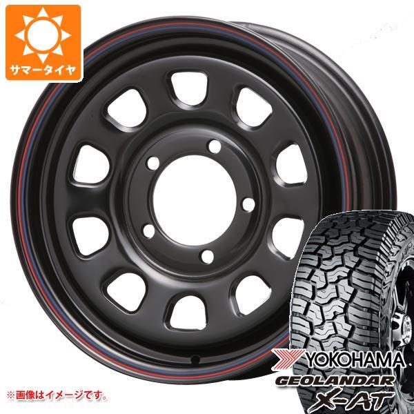 ジムニー専用 サマータイヤ ヨコハマ ジオランダー X-AT G016 195R16C 104/102Q デイトナ SS ブラック タイヤホイール4本セット