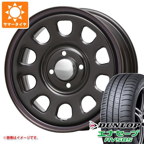 サマータイヤ 155/65R14 75H ダンロップ エナセーブ RV505 デイトナ SS ブラック 軽カー専用 5.0-14 タイヤホイール4本セット