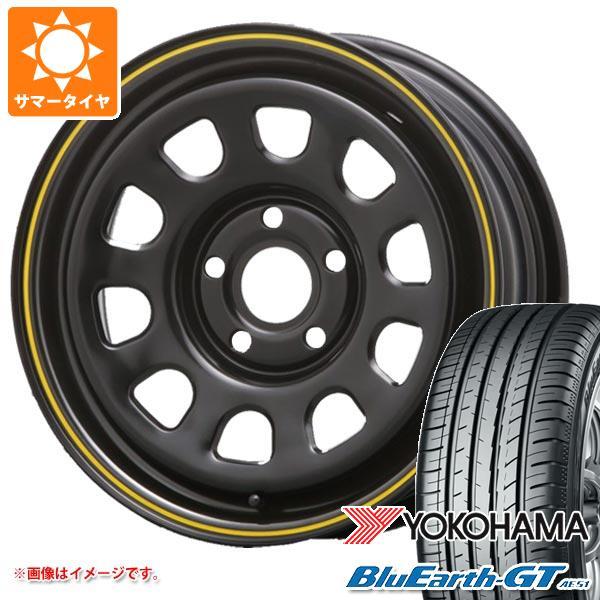 サマータイヤ 195/65R15 91H ヨコハマ ブルーアースGT AE51 デイトナ SS カングー専用 6.0-15 タイヤホイール4本セット