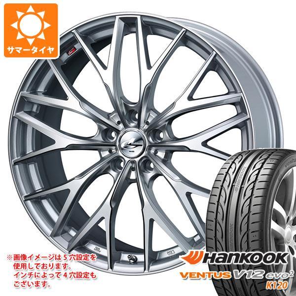 サマータイヤ 215/45R17 91Y XL ハンコック ベンタス V12evo2 K120 レオニス MX HS3/SC 7.0-17 タイヤホイール4本セット