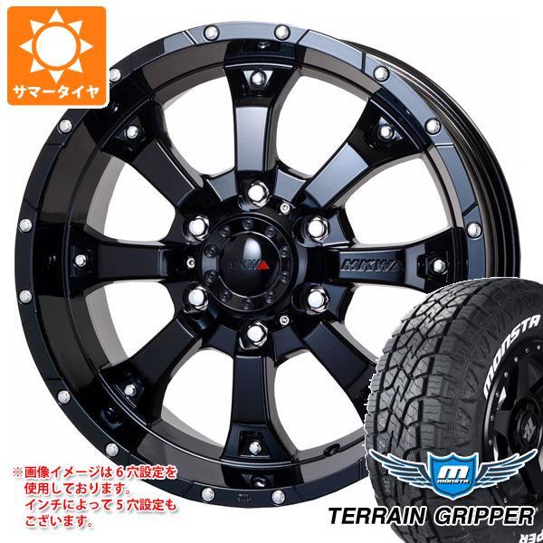 サマータイヤ 265/65R17 116T XL モンスタ テレーングリッパー ホワイトレター MK-46 GB 8.0-17 タイヤホイール4本セット