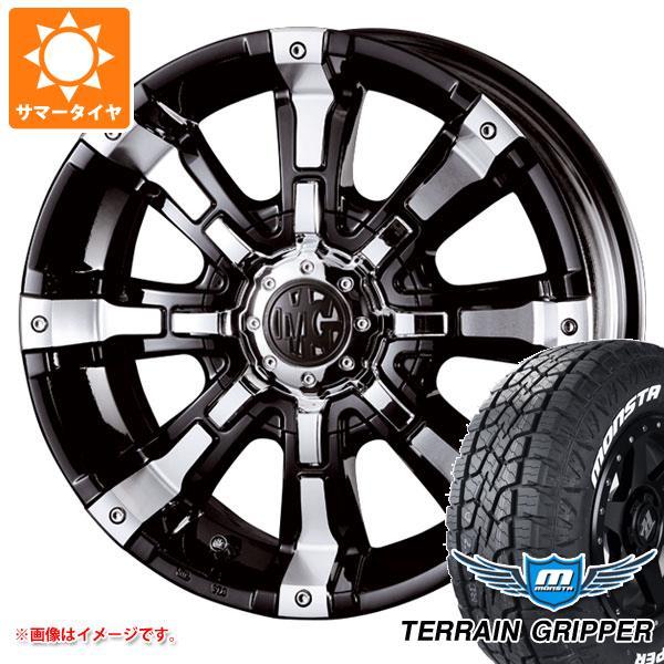 サマータイヤ 265/65R17 116T XL モンスタ テレーングリッパー ホワイトレター クリムソン MG ビースト 8.0-17 タイヤホイール4本セット