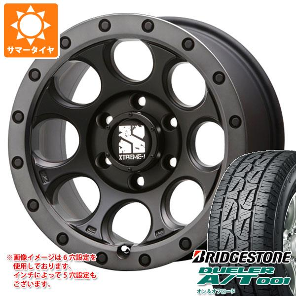 サマータイヤ 265/70R17 115S ブリヂストン デューラー A/T 001 ブラックレター エクストリームJ XJ03 8.0-17 タイヤホイール4本セット