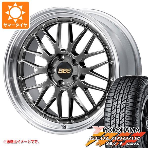 8.0-18 A/T ヨコハマ 235/55R18 104H サマータイヤ ジオランダー BBS ブラックレター LM G015 タイヤホイール4本セット XL