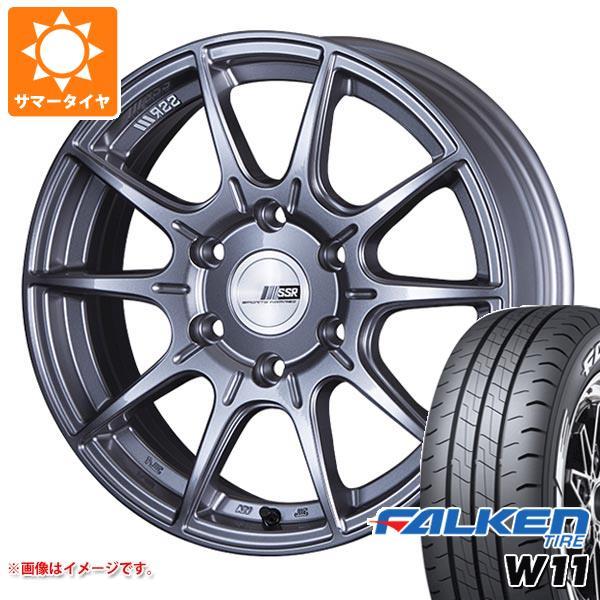 ハイエース 200系専用 サマータイヤ ファルケン W11 215/65R16C 109/107N ホワイトレター SSR ディバイド X01H タイヤホイール4本セット
