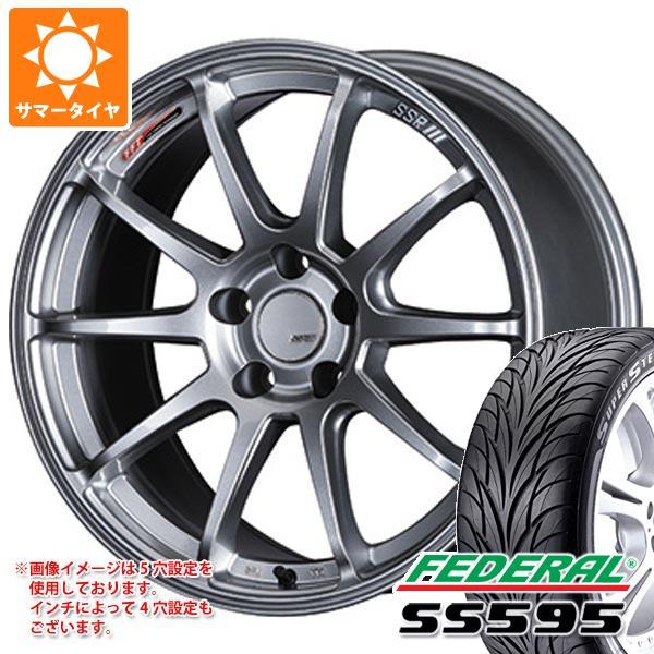 サマータイヤ 245/40R18 93W フェデラル SS595 SSR GTV02 8.5-18 タイヤホイール4本セット