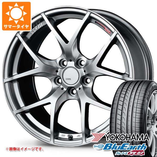 サマータイヤ 225/55R18 98V ヨコハマ ブルーアース RV-02 SSR GTV03 7.5-18 タイヤホイール4本セット