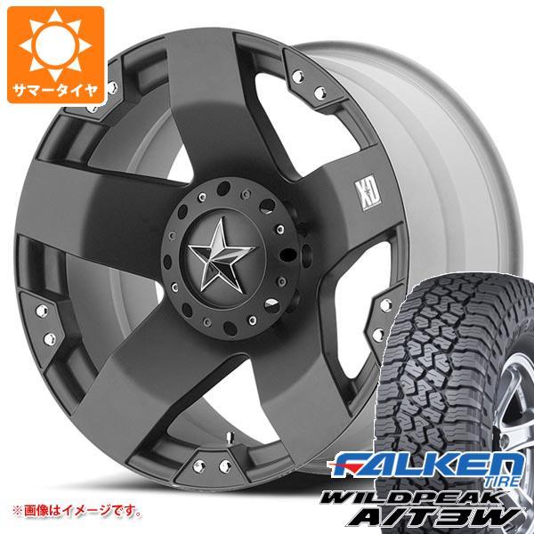 サマータイヤ 285/55R20 122/119Q ファルケン ワイルドピーク A/T3W KMC XD775 ロックスター 8.5-20 タイヤホイール4本セット