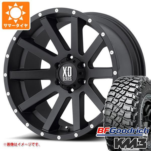 正規品 サマータイヤ 285/55R20 122/119Q BFグッドリッチ マッドテレーン T/A KM3 ブラックレター KMC XD818 ヘイスト 9.0-20 タイヤホイール4本セット