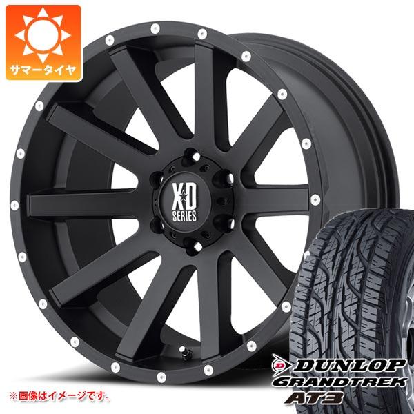 サマータイヤ 265/70R16 112S ダンロップ グラントレック AT3 ブラックレター KMC XD818 ヘイスト 8.0-16 タイヤホイール4本セット