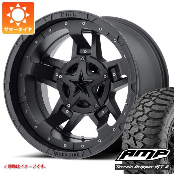 サマータイヤ 275/55R20 115S AMP テレーンアタック A/T KMC XD827 ロックスター3 9.0-20 タイヤホイール4本セット