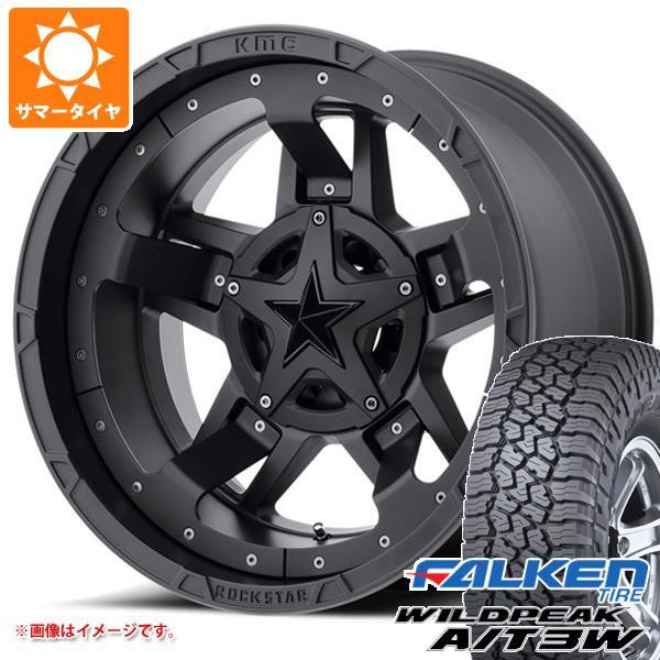 サマータイヤ 285/55R20 122/119Q ファルケン ワイルドピーク A/T3W KMC XD827 ロックスター3 9.0-20 タイヤホイール4本セット