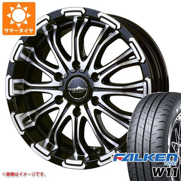 ハイエース 200系専用 サマータイヤ ファルケン W11 215/65R16C 109/107N ホワイトレター バドックス ロクサーニ バトルシップ タイヤホイール4本セット