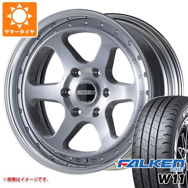 ハイエース 200系専用 サマータイヤ ファルケン W11 215/60R17C 109/107N ホワイトレター エセックス EL 2P タイヤホイール4本セット