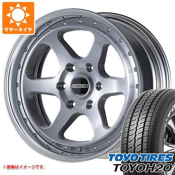 ハイエース 200系専用 サマータイヤ トーヨー H20 225/50R18C 107/105R ブラックレター エセックス EL 2P タイヤホイール4本セット