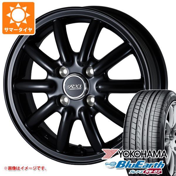 サマータイヤ 155/65R14 75H ヨコハマ ブルーアース RV-02CK ドゥオール フェニーチェ RX1 4.5-14 タイヤホイール4本セット