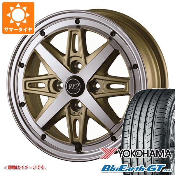 サマータイヤ 155/65R14 75H ヨコハマ ブルーアースGT AE51 ドゥオール フェニーチェ RX2 4.5-14 タイヤホイール4本セット