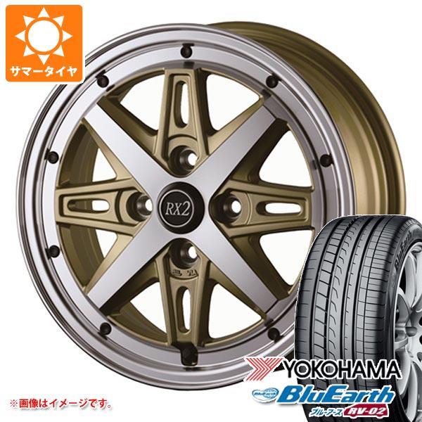サマータイヤ 185/70R14 88S ヨコハマ ブルーアース RV-02CK ドゥオール フェニーチェ RX2 5.5-14 タイヤホイール4本セット