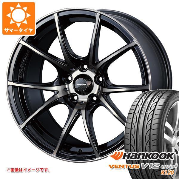 サマータイヤ 185/55R15 82V ハンコック ベンタス V12evo2 K120 ウェッズスポーツ SA-10R 6.0-15 タイヤホイール4本セット