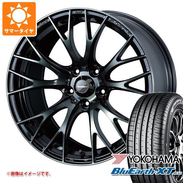 サマータイヤ 225/55R18 98V ヨコハマ ブルーアースXT AE61 ウェッズスポーツ SA-20R 7.5-18 タイヤホイール4本セット