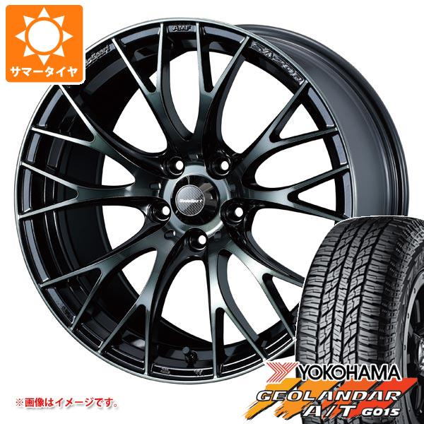 サマータイヤ 225/55R18 98H ヨコハマ ジオランダー A/T G015 ブラックレター ウェッズスポーツ SA-20R 7.5-18 タイヤホイール4本セット