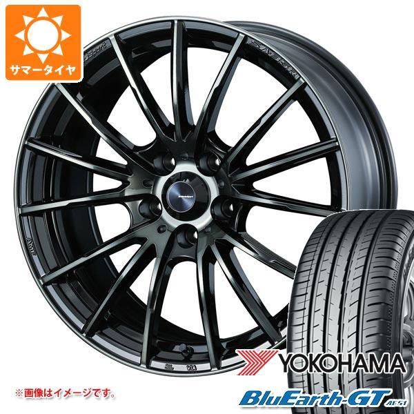 サマータイヤ 165/55R15 75V ヨコハマ ブルーアースGT AE51 ウェッズスポーツ SA-35R 5.0-15 タイヤホイール4本セット
