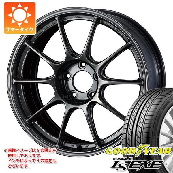 サマータイヤ 215/55R17 94V グッドイヤー イーグル LSエグゼ ウェッズスポーツ TC105X 8.0-17 タイヤホイール4本セット