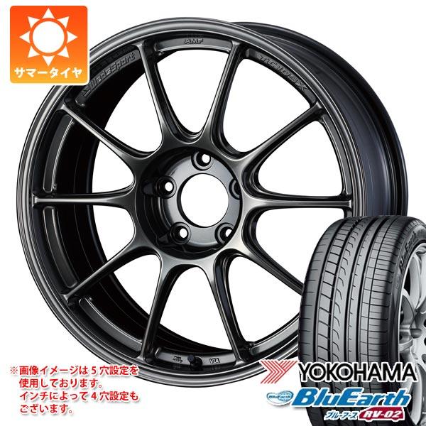サマータイヤ 215/50R17 95V XL ヨコハマ ブルーアース RV-02 ウェッズスポーツ TC105X 8.0-17 タイヤホイール4本セット