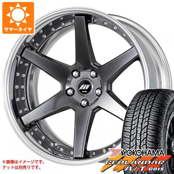 サマータイヤ 235/55R19 105H XL ヨコハマ ジオランダー A/T G015 ブラックレター バックレーベル ジースト BST1 8.0-19 タイヤホイール4本セット