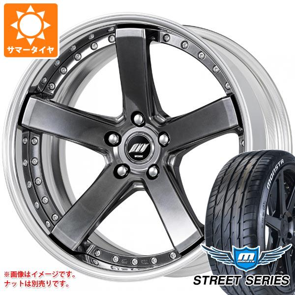 サマータイヤ 245/35R20 99V XL モンスタ ストリートシリーズ ホワイトレター バックレーベル ジースト BST2 8.0-20 タイヤホイール4本セット