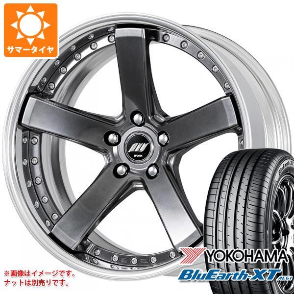 サマータイヤ 235/55R20 102V ヨコハマ ブルーアースXT AE61 バックレーベル ジースト BST2 8.0-20 タイヤホイール4本セット