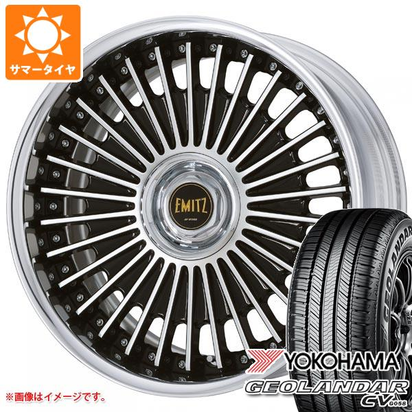 サマータイヤ 225/55R19 99V ヨコハマ ジオランダー CV イミッツ 8.0-19 タイヤホイール4本セット