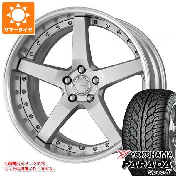 サマータイヤ 235/55R20 102V ヨコハマ パラダ スペック-X PA02 グノーシス GR203 8.0-20 タイヤホイール4本セット