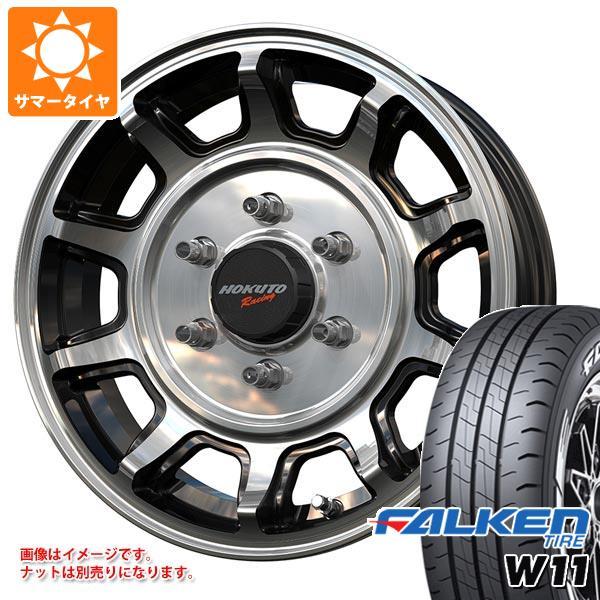 ハイエース 200系専用 サマータイヤ ファルケン W11 215/65R16C 109/107N ホワイトレター クリムソン ホクトレーシング 零式-S タイヤホイール4本セット