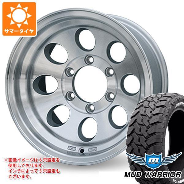 サマータイヤ 265/75R16 123/120Q モンスタ マッドウォーリアー ホワイトレター ジムライン タイプ2 ポリッシュ 8.0-16 タイヤホイール4本セット