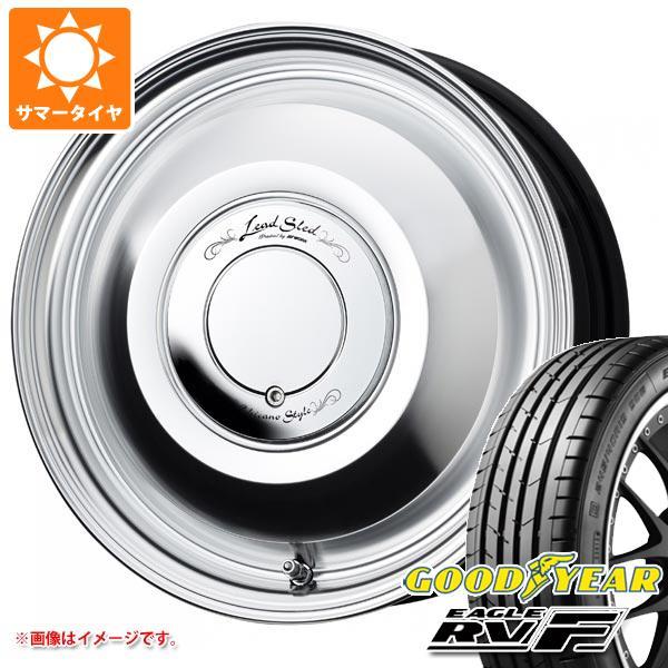 サマータイヤ 165/55R15 75V グッドイヤー イーグル RV-F ワーク レッドスレッド 4.5-15 タイヤホイール4本セット