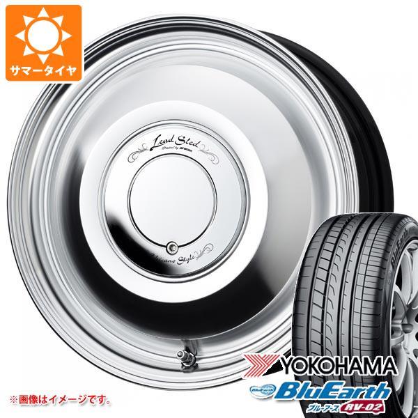 サマータイヤ 165/55R15 75V ヨコハマ ブルーアース RV-02CK レッドスレッド 4.5-15 タイヤホイール4本セット