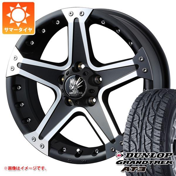 サマータイヤ 215/70R16 100S ダンロップ グラントレック AT3 ブラックレター マッドヴァンス01 7.0-16 タイヤホイール4本セット