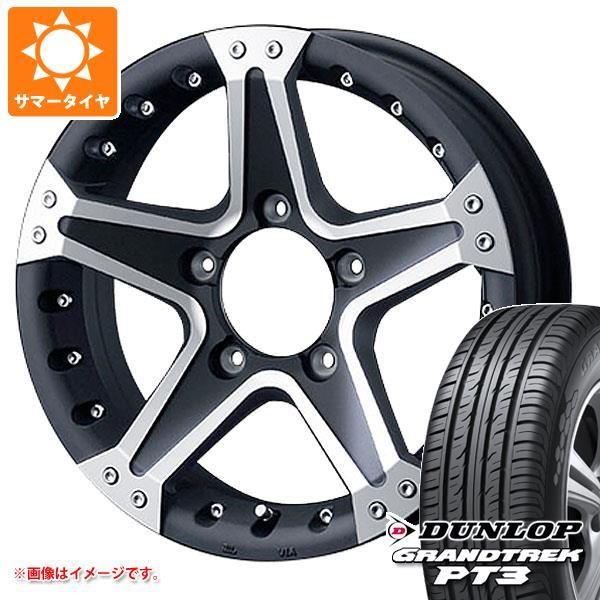タイヤホイール4本セット マッドヴァンス01 グラントレック 91S 5.5-16 ジムニー専用 サマータイヤ PT3 175/80R16 ダンロップ
